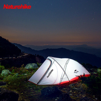 Naturehike Double Layer Backpacking Tent Ultralight Anti UV Windproof Waterproof with Free Groundsheet for Camping Hiking Travel