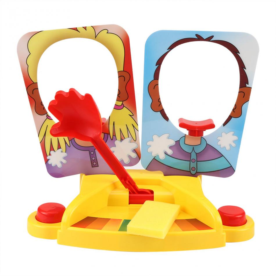 Double Cream Hit Face Machine Table Interactive Game Funny Gadget Kids Novelty Trick ToyHit Face Smashing Machine Funny Toys