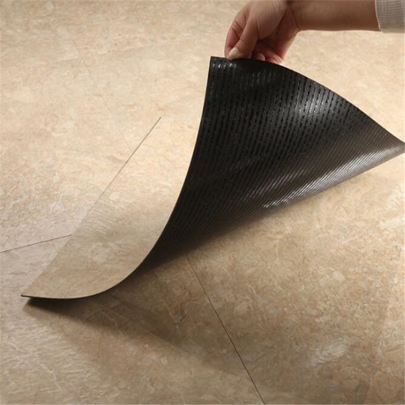 Beibehang Self-adhesive Flooring, Grained PVC Flooring, Plastic Flooring, Household Sheet, Wear-resistant, Thick 45.72cmx45.72cm