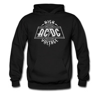 AC DC Male Hoodies Heavy Metal Punk Band Hooded Thick Sweatshirt Fleece Autumn And Winter European