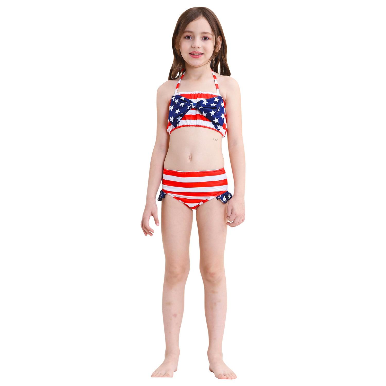 New Item 3 PCS/Set Swimming Mermaid Tail Bikini Girls