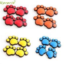 Auto car-styling car styling 4pcs Multicolor Bear Paw Pet Animal Footprints Emblem Car Truck Decor 3D Sticker Decal FEB14