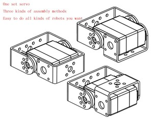 Image 3 - 1X Robot servo 20kg RDS3218 metal gear digital servo arduino servo with Long and Short Straight U Mouting