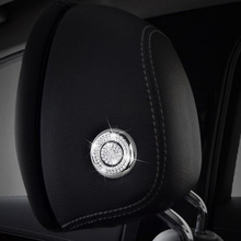 Car Styling Head Pillow Adjustment Button Diamond Trim for Mercedes Benz C class W205 C180 200 300 GLC X253 E W213