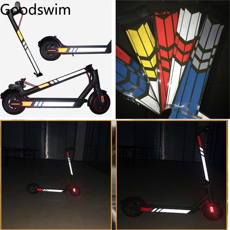 Reflective Stickers For Xiaomi Mijia M365 Electric Scooter M365 M365 Pro Light Tags Paster Night Safety Warning Strip Reflector
