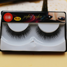 1 Pair Natural Thick Black Cross False Eyelash Soft Long Eye Lash Extension Soft Handmade Eye Lashes Makeup 2HM11