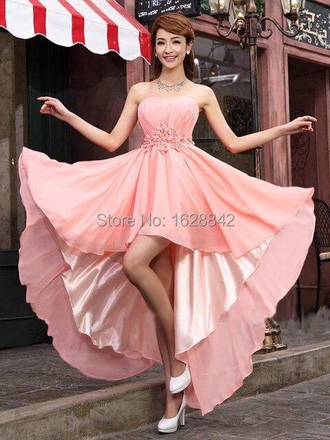 Envío libre 2016 vestido de noche de moda largo de color rosa ...