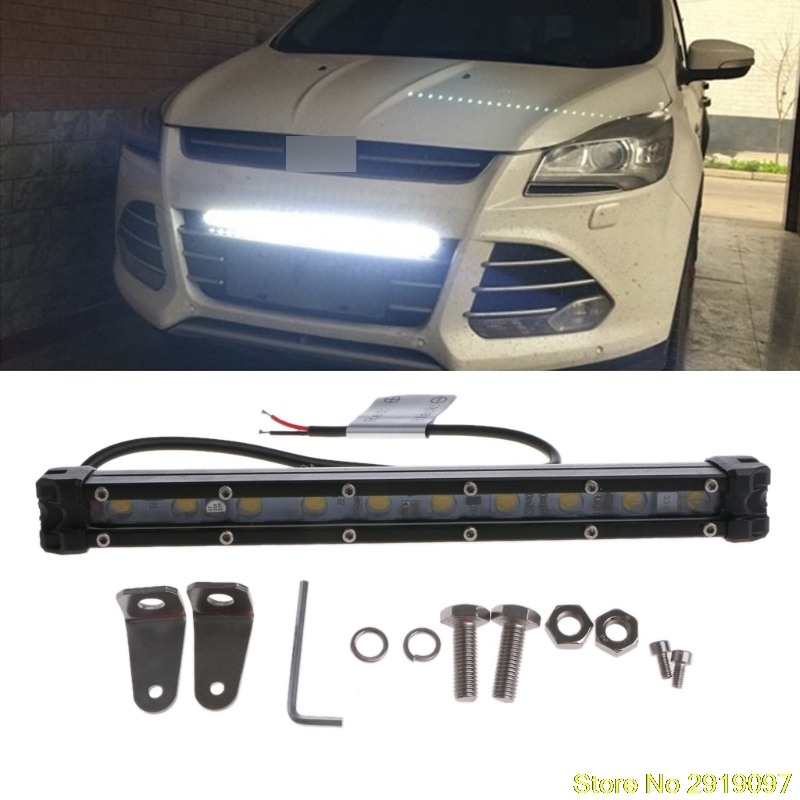 New DC 10-30V 10 LED Curved Flood Spot Work Light Bar 20W Day Light For Offroad Truck Lamp Drop Shipping Support