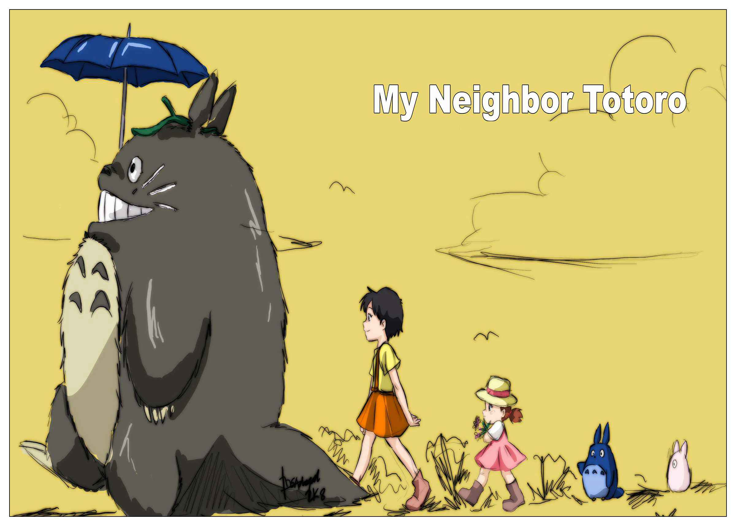 Classic Movie My Neighbor Totoro Poster coated posters home decor ...