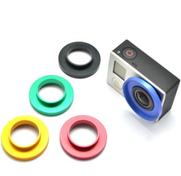 Gopro Hero 4 /3 + Bare Metal Filter Mount Five colors 37MM Lens Protection Ring
