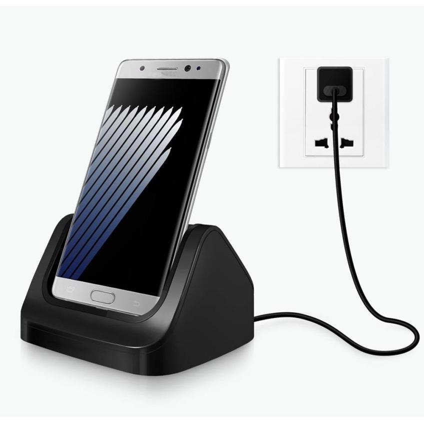 Type-c 5V/1A Phone Chargers Desktop Double Charging Cradle Stand Charger Dock + Type-C Cable For Samsung Galaxy Note 7