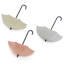 3Pcs/lot Colourful Umbrella Decorative soap Holder Wall Hook Key Hair Pin Towel Organizer Storage Hanger Rack Hooks & Rails