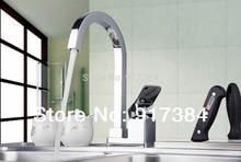 360 поворотный горячей/холодной воды Кухня раковина бассейна хромированная латунь одной ручкой на бортике M-025 смеситель кран