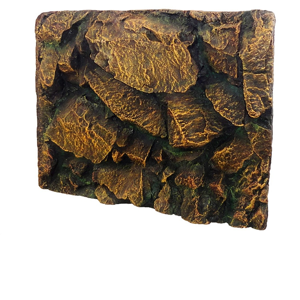 Boîte de Reptile de roche jaune fond d'aquarium 3D motif Gecko serpent lézard tortue tarentule grenouille Vivarium Terrarium décoration