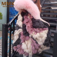 2018 new fashion long winter jacket women luxurious Large raccoon fur collar hooded coat warm fox fur liner parkas top quality