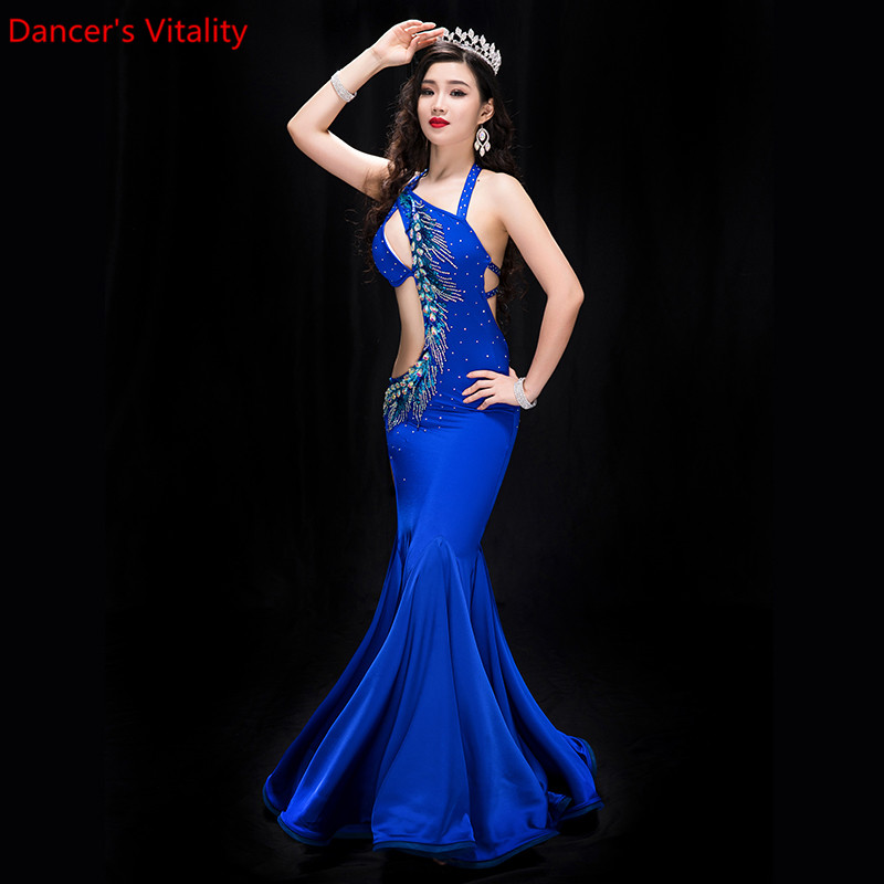 New Performance Belly Dance Elegant Diamond Dress Girl Dress Dresses Belly Dancing Belly Dance Costumes Dance Costume