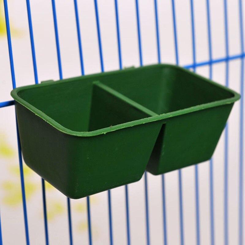 Клетка для птиц препятствуют Воды Поле Интимные аксессуары двойной решетки коробка Товары для птиц птица Еда bowl подачи поставки цилиндр ба...