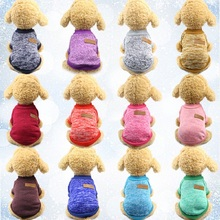 Pet Clothes For Small Dogs Cats Flannel Sweater Clothing Winter Warm Coat Classic High-grade 13 Colors Sweaters Ropa Perro