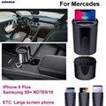 Автомобильное Qi Быстрое беспроводное зарядное устройство для телефона  быстрое зарядное устройство для Mercedes Benz Class A B C CLA E G GLA GLC M