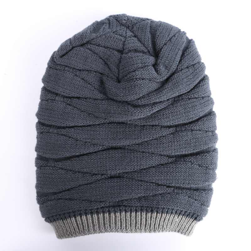7f94e11276026 ... Knit Winter Women Men Beanie Hat Baggy Unisex Ski Cap Skull Cashmere  Hip-Hop ...