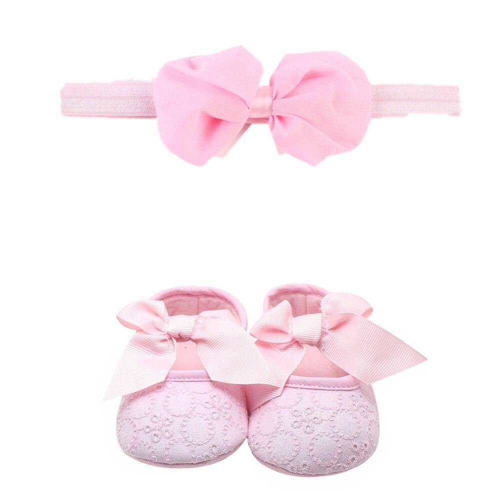 1 Set Neugeborenen Baby Mädchen Prinzessin Infant Mary Jane Großen Bogen Erste Wanderer Schuhe Schuhe + Kinder Kleinkind Großen Bogen Stirnband Headwear
