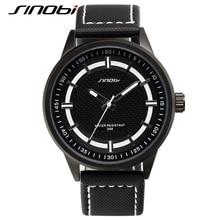 SINOBI 2017 Luxury Military Watch Men Quartz Analog Clock Leather Canvas Strap Man Sports Watches Army Relogios Masculino G46