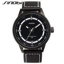 SINOBI 2017 Luxury Military Watch Men Quartz Analog Clock Leather Canvas Strap Man Sports Watches Army Relogios Masculino G46