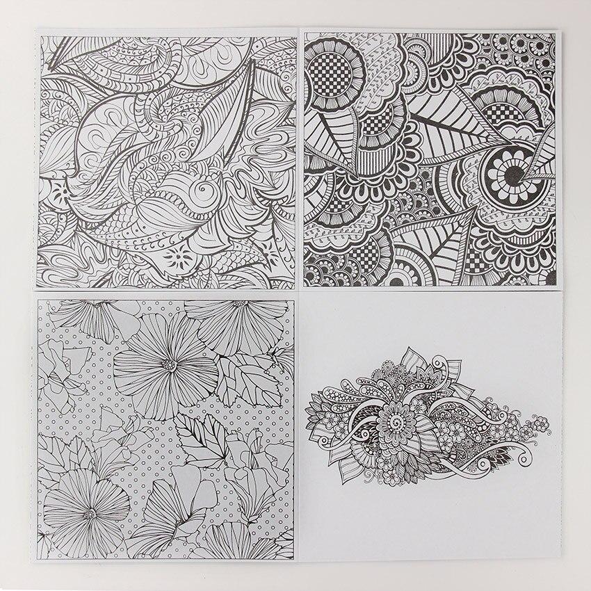 Best Offer 8b25 24 Pages Mandalas Flower Diy Coloring Book For
