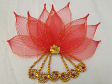 Sequin Flower Headdress Jewelry Costume National Classical Dance Yangko Square Headpiece