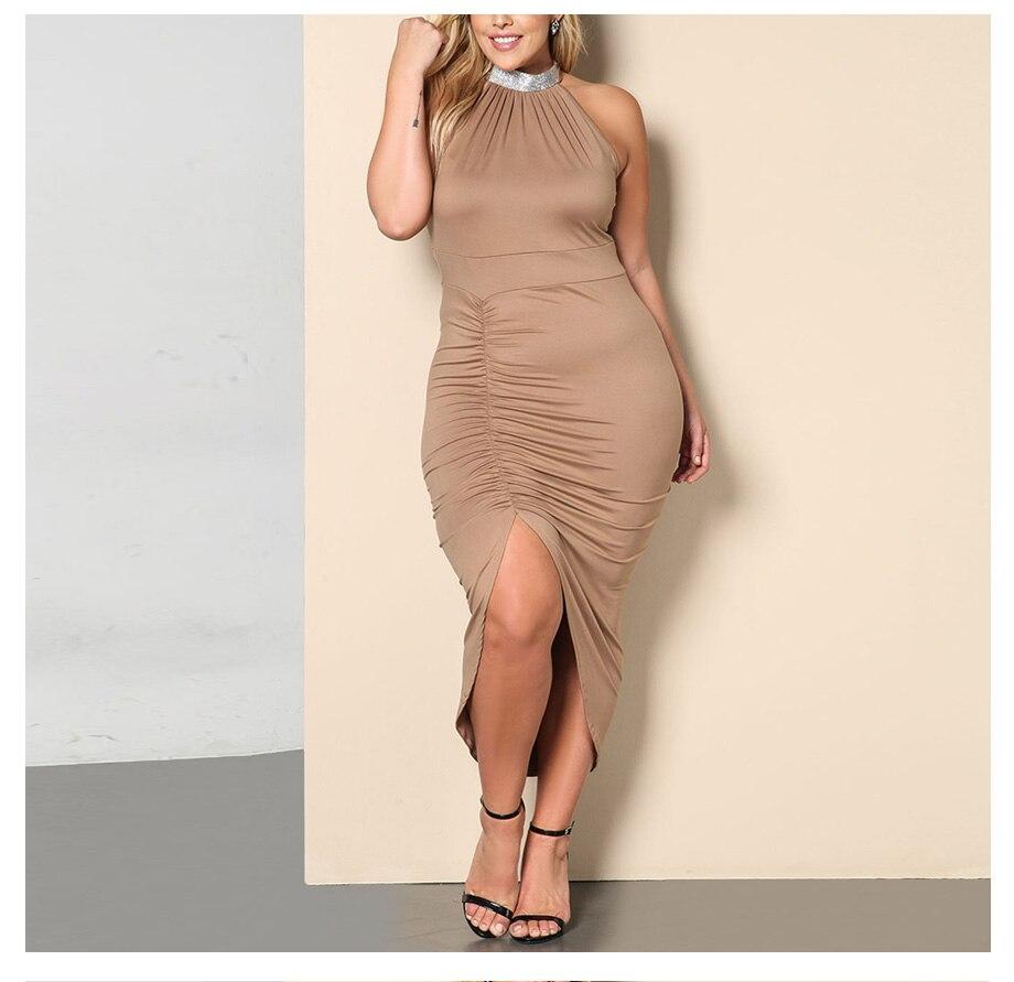 3a886f12987 BACHASH Plus Size Fashion 2018 Summer Sleeveless Sexy Bodycon Dress Bandage  Women Clothing Party Dresses Big Size Vestido 100KG