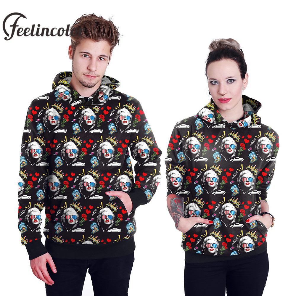 e9e9e9ea06f1 Feelincolor New Arrival 3d Hoodies Marilyn Monroe Sweatshirt Men Women  Autumn Winter Hooded Streetwear Clothes Hoodie-in Hoodies   Sweatshirts  from Men s ...