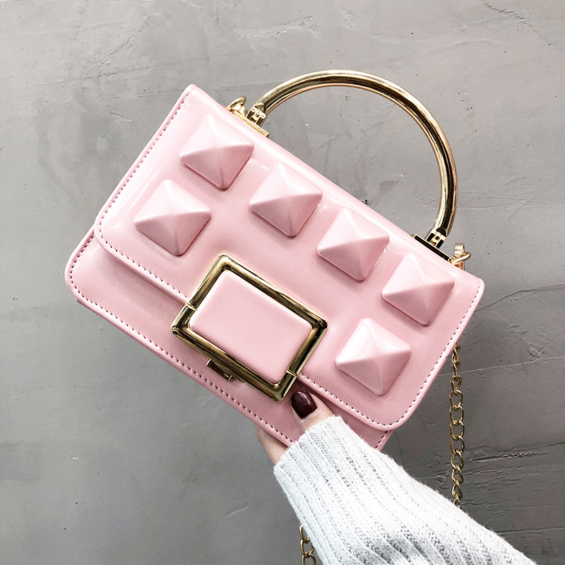 2018 Women's Fashionable Square Handbag In Korean Version, Mini Messenger Bag with Exquisite Chain Strap цена