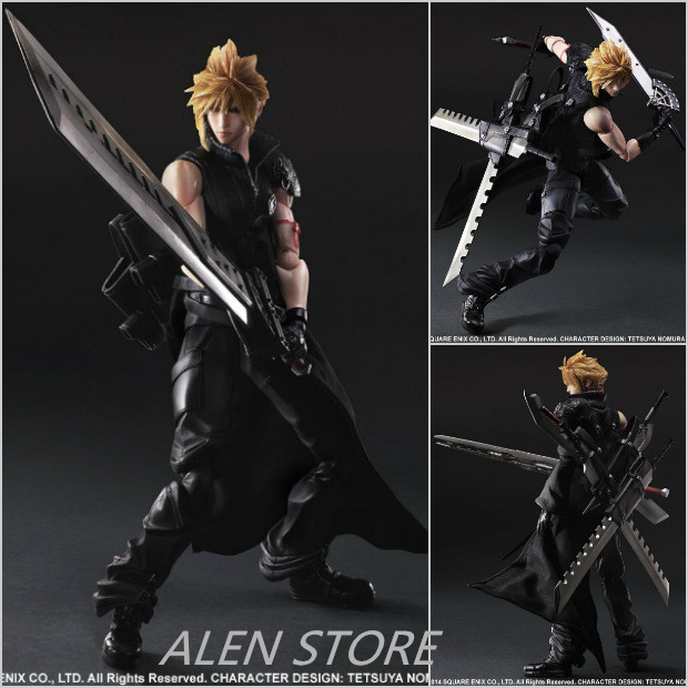ALEN Anime Final Fantasy VII Cloud Strife Action Figure Collection Play arts Kai figurine kids Toy Model Playarts game doll