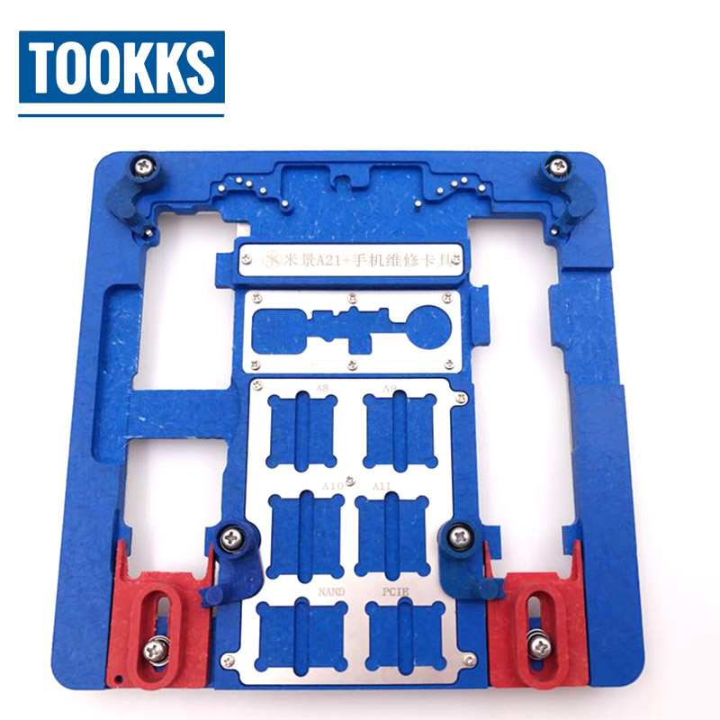 MJ A21+ Motherboard Repair Fixture PCB Holder For IPhone 5S/6/6S/6SP/7/7P/8/8P/ XR  For A7 A8 A9 A10 Logic Board Chip Fixture