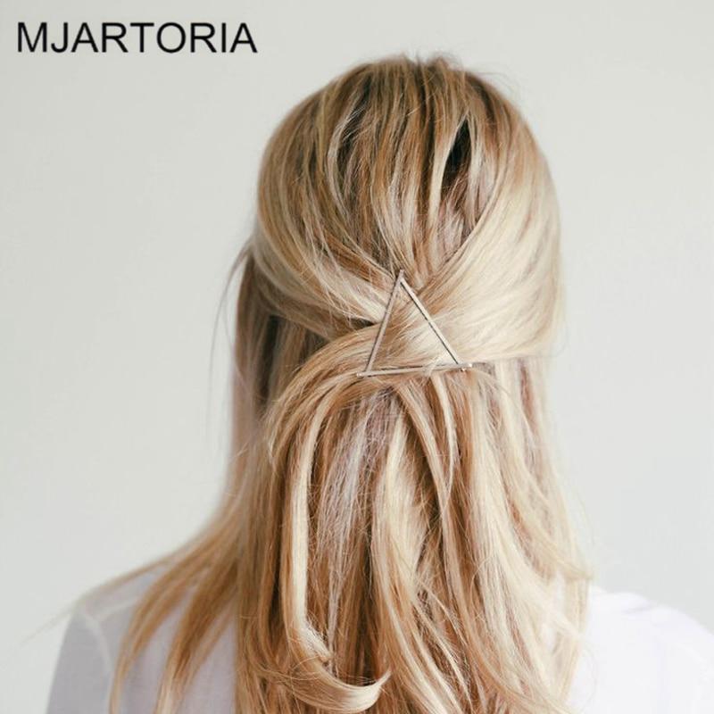 MJARTORIA Hair Accessories For Women DIY Vintage Gold Color Metal Geometric Hairpin Girls Hair Clips Fashion Hair Ornaments