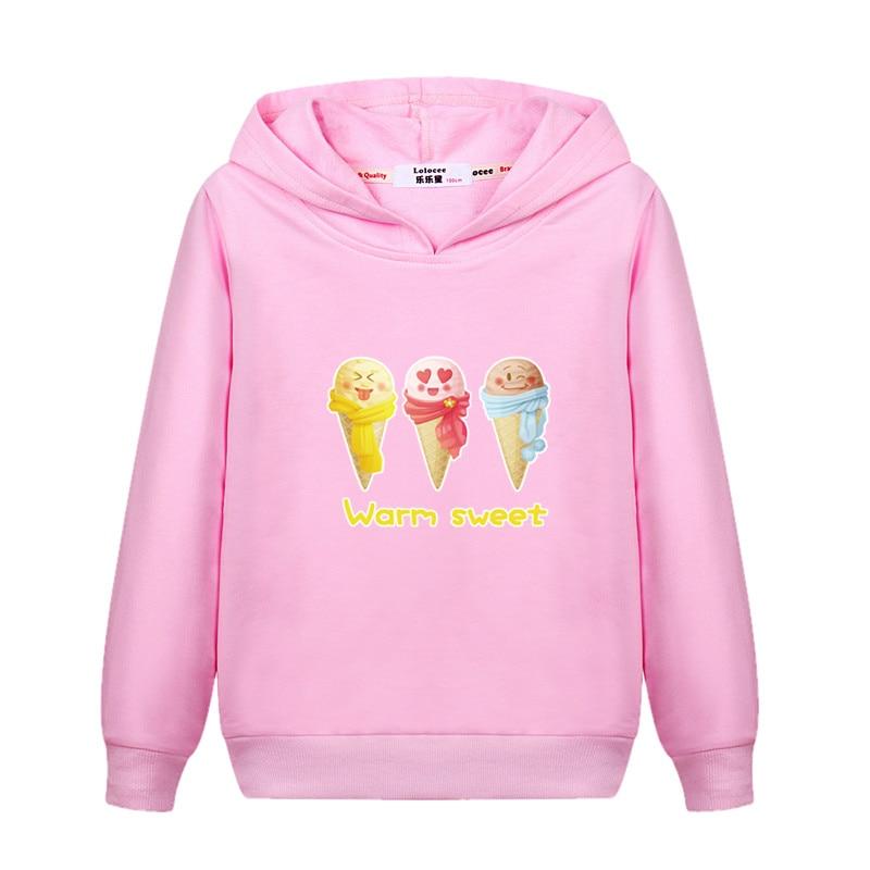 2019 Neue Mädchen Sweatshirt Bunte Eis 3d Lustige Pullover Sweatshirts Nette Hoody Tops Für Baby Mädchen