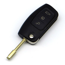 WhatsKey Replacement 3 Button Remote Folding Flip Key Case For Ford Focus Mondeo Festiva Fusion KA With LOGO Free Shipping