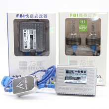 купить Top Quality 55W FBI Fast Bright HID Xenon Bulb H1 H3 H7 H11 9005 9006 Car Headlight ballast 5500K HID Headlight Kit дешево