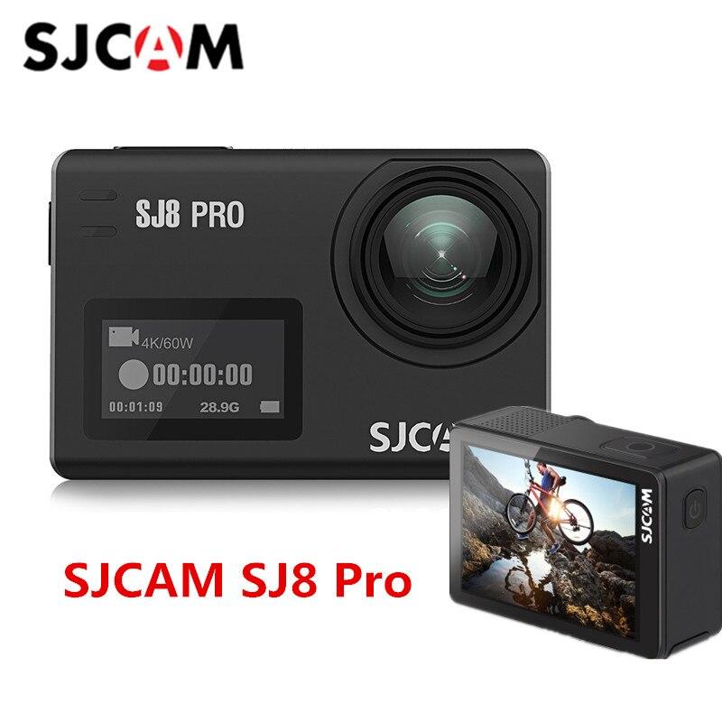 En Stock SJCAM SJ8 Pro 4 k 60fps Sport Caméra Étanche Anti-Shake Double Écran Tactile WiFi Télécommande camera Action Sport DV