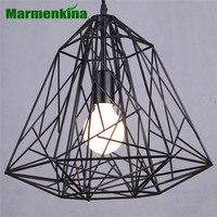 Marmenkina Creative diamond E27 Pendant Lights Black Iron industrial lamp vintage Loft retro style light bar dinning room light