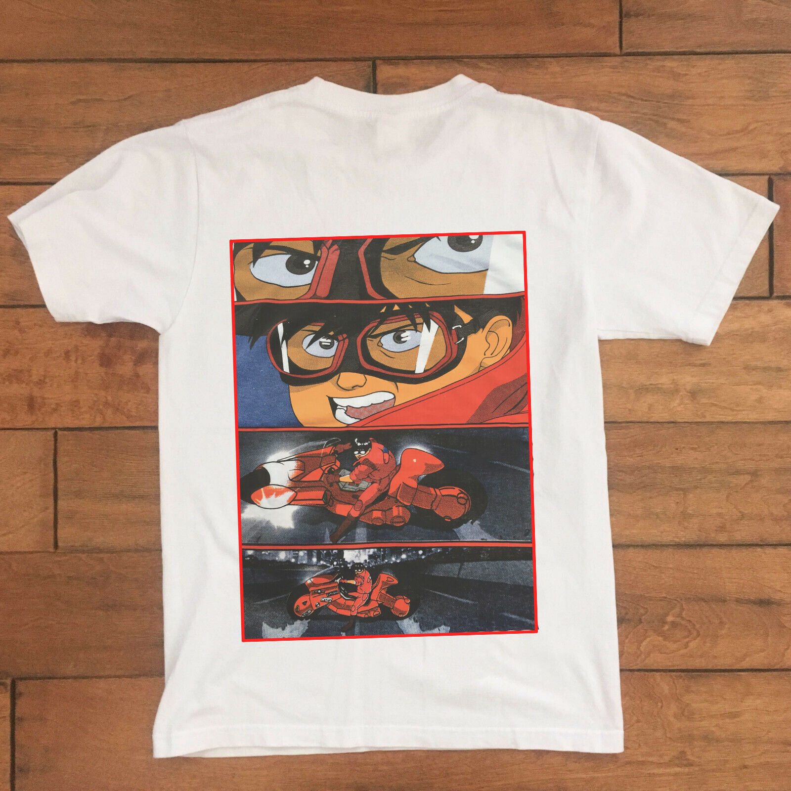 Vtg Akira Double Sided T Shirt Japan Anime Men s Size XL Kaneda Summer Short Sleeves Cotton T Shirt Fashion in T Shirts from Men 39 s Clothing