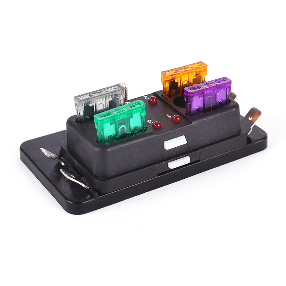 Durable 4 Way Blade Block Fuse Box Holder With Led Indicator Marine Covers Protection Cover For Automotive In Rv Parts Accessories From Automobiles
