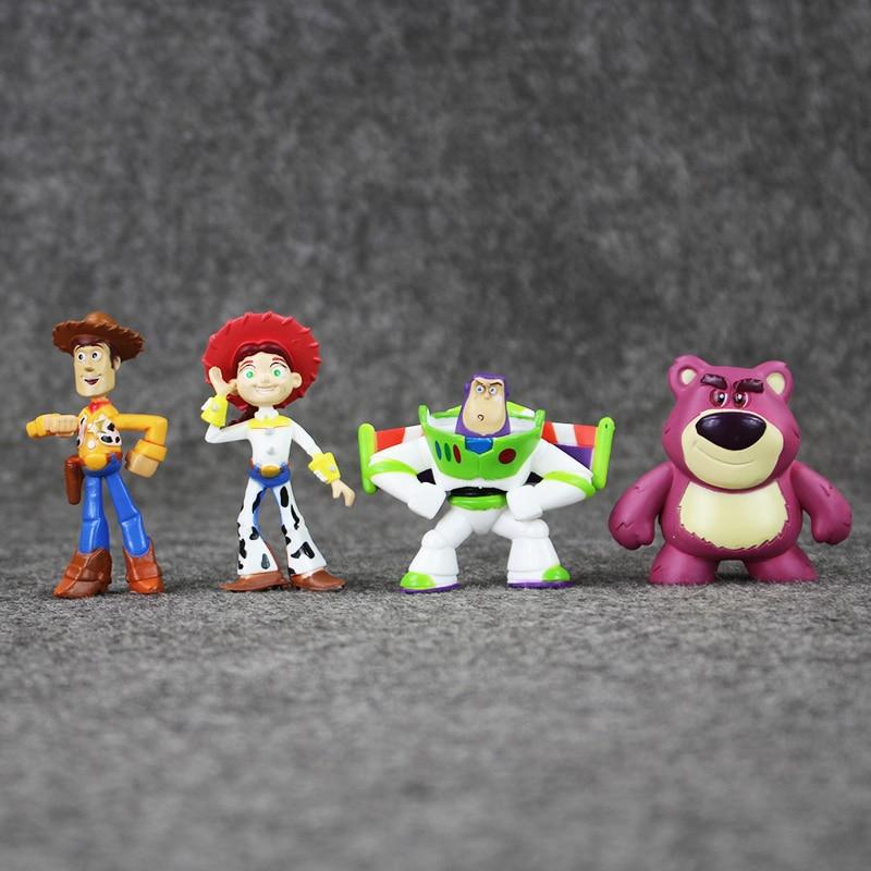 5a05da39150da 3 7 cm 8 unids lote Cute Toy Story 3 Buzz Lightyear Woody Jesse Mini PVC  acción figura colección juguetes muñeca regalo para niños en Acción y  Figuras de ...