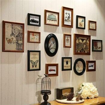 Picture Frame Wall Wooden Frames Vintage Photo Frames Fopr Picture Porta Retrato Moldura Quadros De Parede Com Decoration