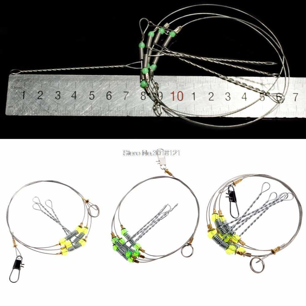 WholesaleAnti-Winding Swivel String Sea Fishing Hook Steel Rigs Wire Leader Fish Hooks Drop ship