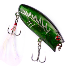 1PC Hard Fishing Lures 5.7cm-2.24″/10.42g-0.37oz Crank Bass Bait 10 Color Fishing Tackle 8# High Carbon Hook DHP-001