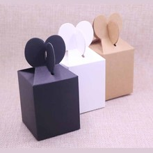 10pcs Fishtail FeiLuan paper hanger box gift display& package box,blank DIY black/brown candy/wedding box Event party suppiles цена