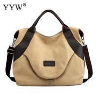 khaki Solid Corduroy Shoulder Bags Environmental large Shopping Bag Tote Package Crossbody Bags Purses Casual Handbag For Women