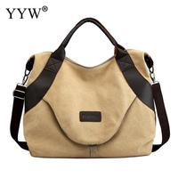khaki Solid Corduroy Shoulder Bags Environmental large Shopping Bag Tote Package Crossbody Bags Purses Casual Handbag For Women