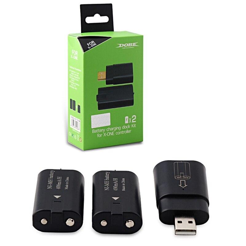 Kit de câble de Charge contrôleur sans fil batterie de jeu Charge + batterie Rechargeable pour XBOX ONE